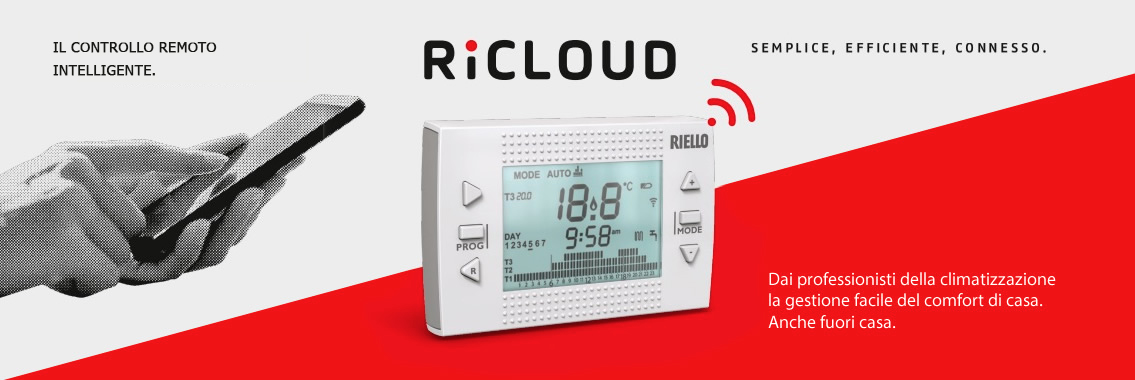 riello termostato  RiCLOUD, il controllo remoto intelligente